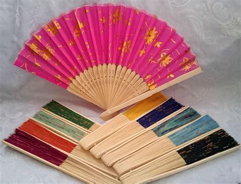 dicor chambr leque de tecido e bambu rei dos leques elo7