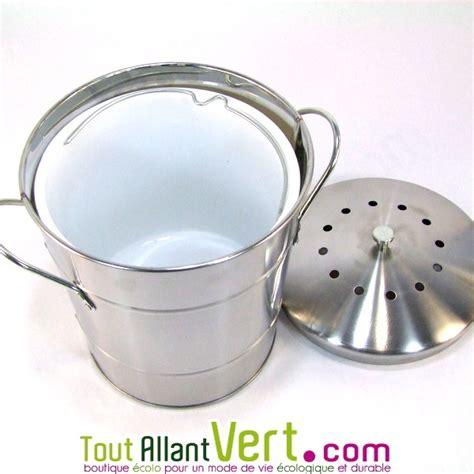 odeur cuisine poubelle de table à compost anti odeurs pour cuisine 5 litres 25 90 composteurs d