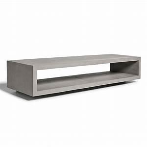 Meuble Tv Effet Beton : meuble tv b ton 150x45cm monobloc lyon b ton absolument design ~ Teatrodelosmanantiales.com Idées de Décoration