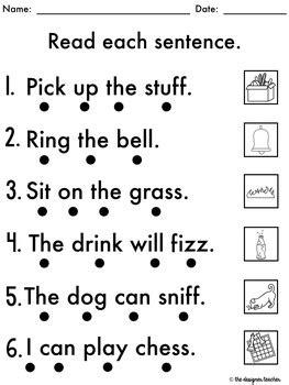 no prep phonics worksheets consonants word work ff