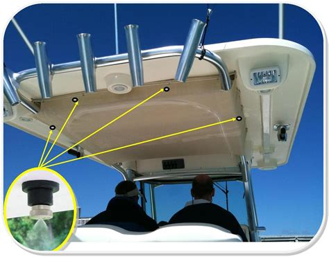 Boat Tower Mister by Boat Misting Systems Marine Misting Systems