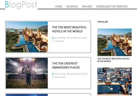 Template Blog Post Blogger Template • Blogspot Templates 2020