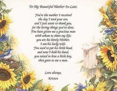 personalized mother  law poem choose art mothers day
