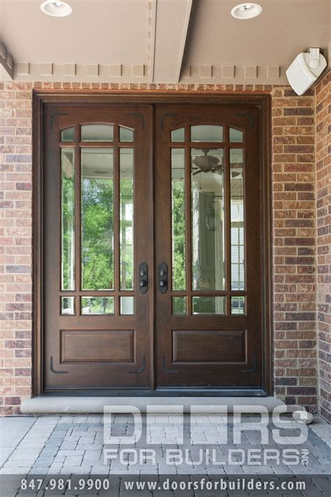 wood exterior doors with glass wooden door with beveled glass and prairie grills custom
