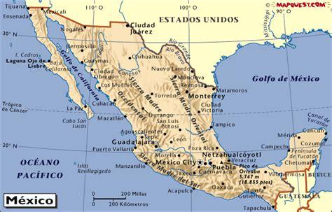 mapa de estados unidos mexicanos