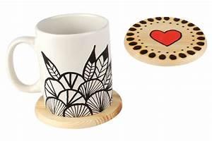 Dessous De Verre Bois : dessous de verre rond en bois lor de 6 cuisine et vaisselle 10 doigts ~ Teatrodelosmanantiales.com Idées de Décoration