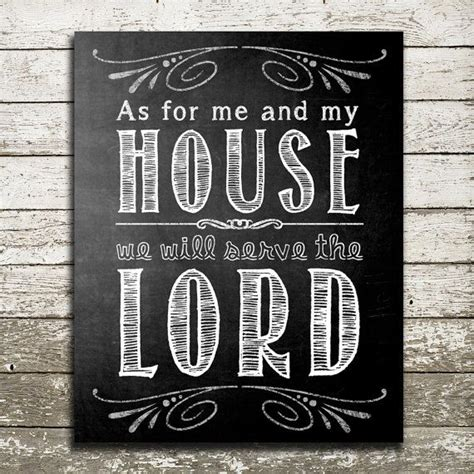 bible verse wall as for me and my house we will serve the lord scripture gift print