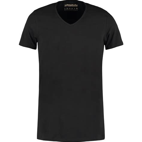 zwart diep  hals  shirts van shirtsofcotton  shirts soc