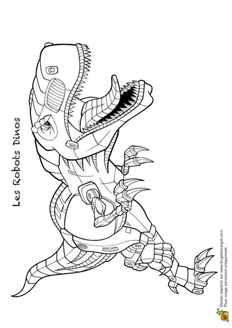 Kleurplaat Ark Survival by Coloriage Robot Dino 07 Sur Hugolescargot