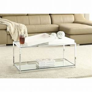 palm beach glass coffee table in white 131382w With white beach coffee table