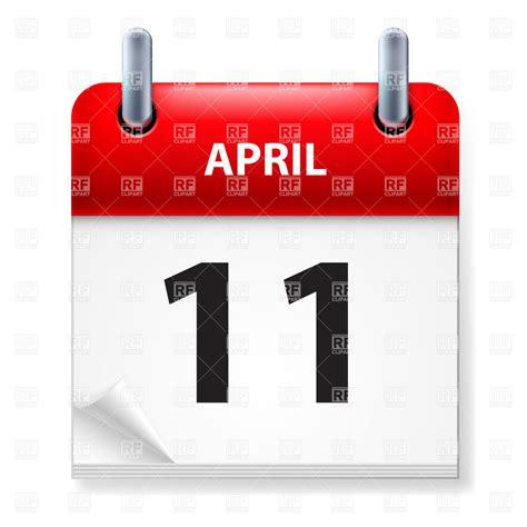 11 of april calendar icon vector of calendars layouts 169 dvarg 9407 rfclipart