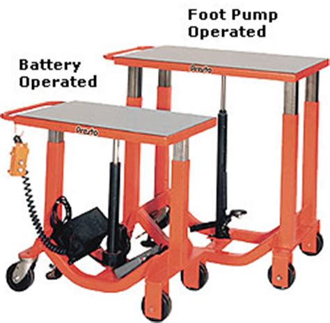 battery operated l post portable hydraulic lift tables scissor lifts on wheels