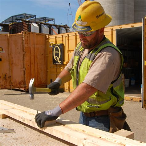 work gloves  carpenters  authorized boots