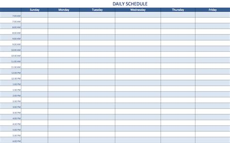 daily schedule maker planner template
