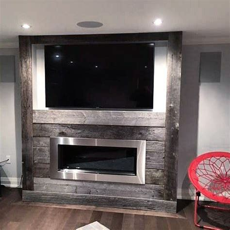 fireplace makeover  classic grey reclaimed barn board