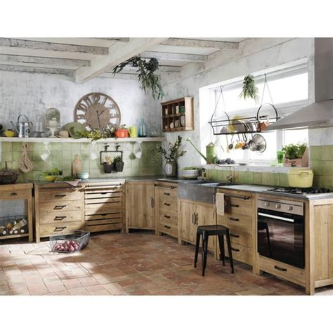 cuisine maison du monde copenhague küchenunterschrank aus recyceltem kiefernholz mit spüle b