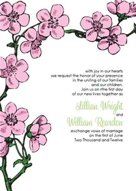 cherry blossom wedding invitations kits