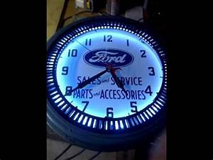 ford neon spinner clock