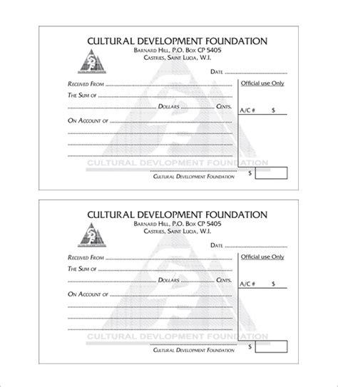 Receipt Book Template Word – printable receipt template