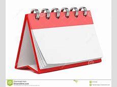 Blank Desktop Calendar Isolated On White Stock Photos