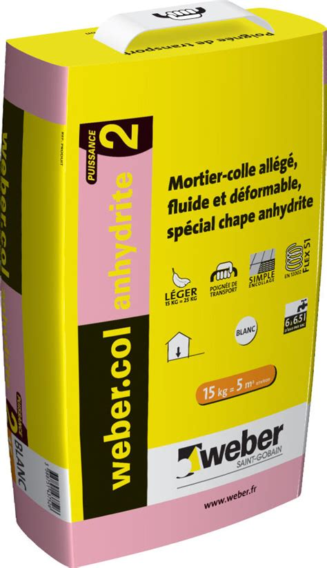 mortier colle pour carrelage c2 anhydrite weber col anhydrite 2 weber