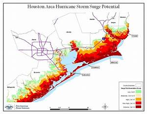 Maps  Storm Surge Risk From Tropical Storm Gustav