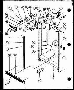 Refrigerator  Freezer Controls And Cabinet Parts Diagram