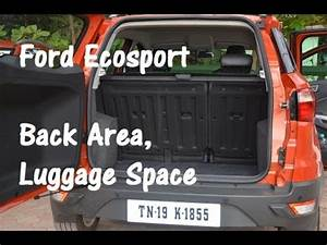 Ford EcoSport Back Door Area, Design and Luggage Space YouTube