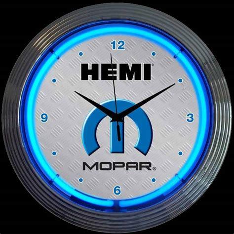hemi neon clock mopar neon clocks clocks garage