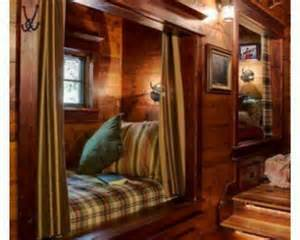 Cozy Reading Nook in a Log Cabin