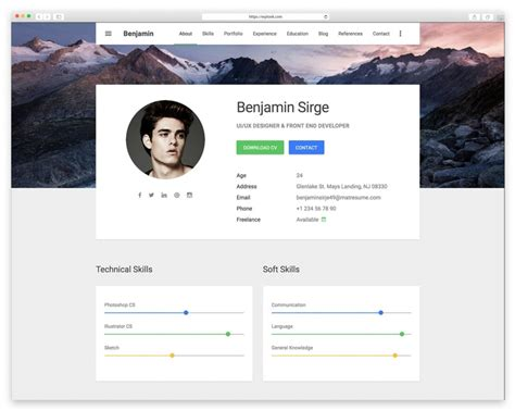 Best Resume Website Templates by Best Resume Website Templates For Cv Wplook Themes