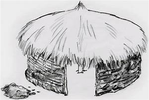 African Hut Coloring Pages