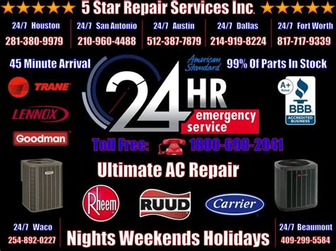 hour ac repair houston san antonio austin dallas fort