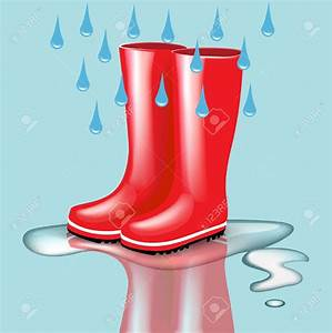 Red Rain Boots Clipart (65+)