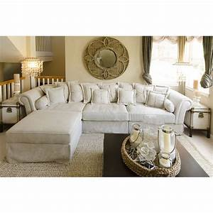 bella 2 piece fabric sectional sofa and ottoman sand With 2 piece sectional sofa with ottoman