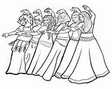 Belly Coloring Dancer Dancing sketch template