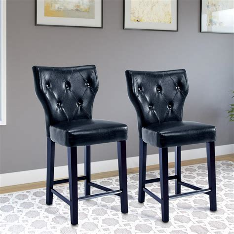 30 leather bar stools philadelphia eagles 30 in black bar stool with faux 3868
