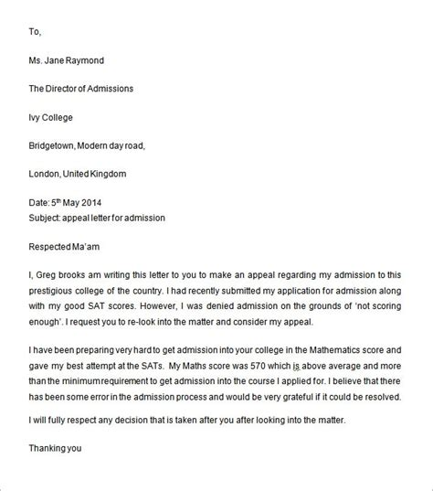 sample appeal letter   documents   word