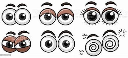 Eyes Expression Vector Background Cartoon Illustrations Illustration