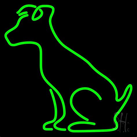 green dog neon sign veterinary neon signs   neon