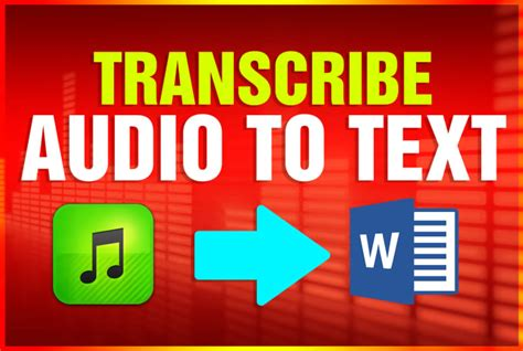 Professionally transcribe audio to text accurately by ...