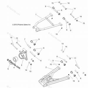 Polaris Side By Side 2014 Oem Parts Diagram For Suspension  Rear  All Options