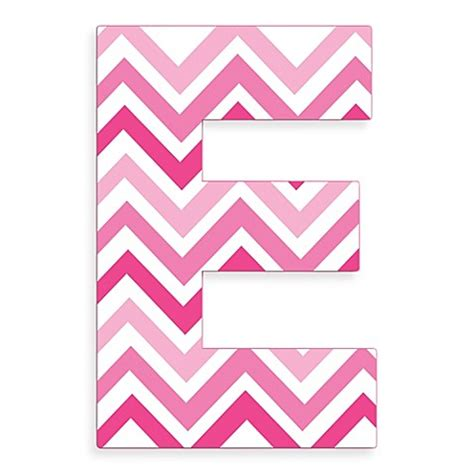 Kitchen Christmas Tree Ideas - stupell industries tri pink chevron 18 inch hanging letter in quot e quot bed bath beyond