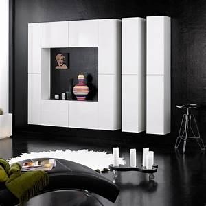 Wohnwand Modern Weiß : design wohnwand schrankwand anbauwand monaco wei hochglanz modern viel platz ebay ~ A.2002-acura-tl-radio.info Haus und Dekorationen