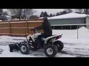 Plowing Snow With Yamaha Raptor 660