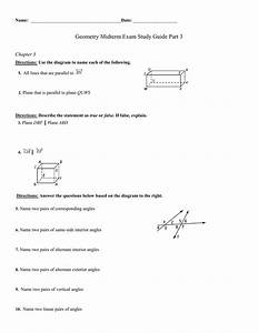 Name    Geometry Midterm Exam Study Guide Part 3 Chapter 3