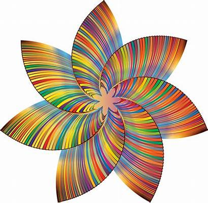 Colorful Clipart Clip Flower Line Flowers Colored