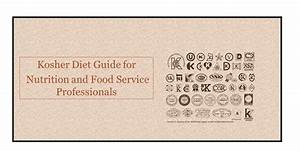 Kosher  Jewish  Diet Guide For Nutrition And Food Service