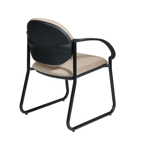 deluxe sled base arm chair