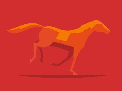 horse running illustration